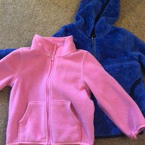 Fleece zip ups 3T